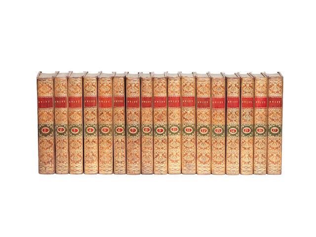 SWIFT (JONATHAN) The Works... by Thomas Sheridan, 17 vol. (volume one comprising Sheridan's Life), 1784