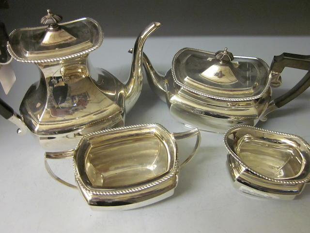 A four piece tea and coffee service, by Elkington and Co. Ltd,  Birmingham 1907, 08  (4)