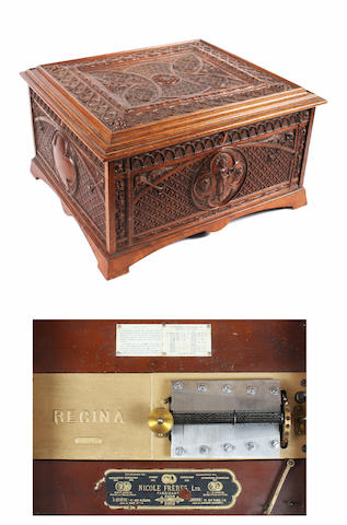 A Regina 15½ inch disc musical box, circa 1898,