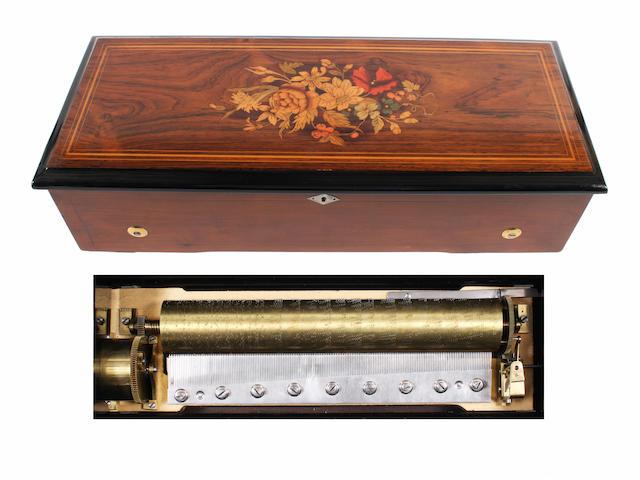 A four air mandoline cylinder musical box by Paillard, circa 1883,