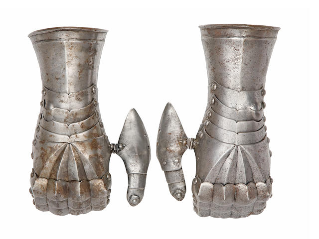 A Pair Of Early German Gauntlets