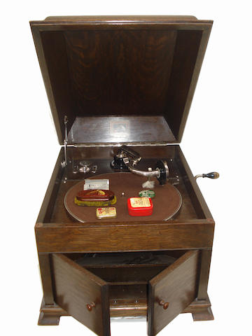 An HMV model 127 table gramophone,