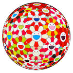 Takashi Murakami (Japanese, born 1962) Flower Ball Series Five offset lithographs printed in colours, on glossy wove, each signed and numbered from the edition of 300, published by Kaikai Kiki Co., Ltd, Tokyo, the full sheet printed to the edges, 710mm (28in)(diameter) 5 unframed