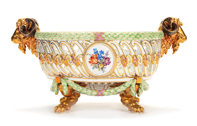 A rare Marcolini Meissen table service, late 18th century