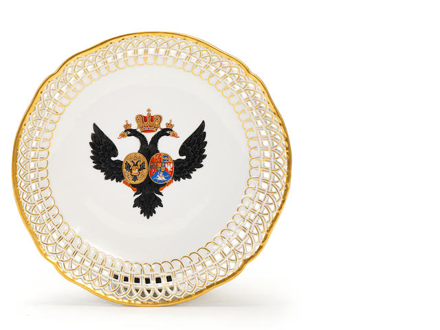 A Berlin dessert plate from the service made for Grand Duke Paul