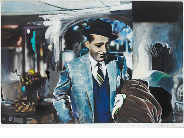 Richard Hamilton (British, 1922-2011) I'm Dreaming of a Black Christmas (Lullin 82) Screenprint on collotype with collage, 1971, on Schoeller Elfenebein-Karton, signed and numbered 67/150, printed at E Schreiber, Stuttgart and H P Haas, Stuttgart and Dietz Offisin, Lengmoos, Bavaria, published by the Peterburg Press, London, with full margins, 749 x 1000mm (29 1/2 x 39 3/8in)(SH) unframed