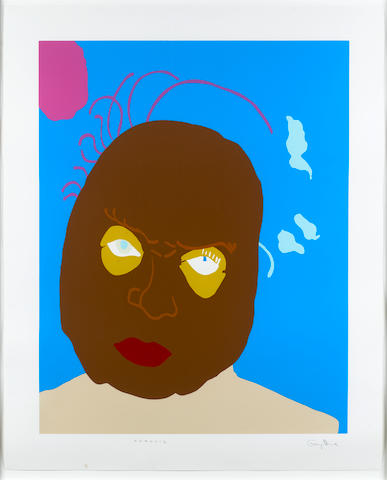 Gary Hume RA (British, born 1962) Francis (From Portraits) Screenprint in colours, 1998, on wove, signed and titled in pencil, numbered from the edition 36 verso, published by Charles Booth Clibborn under his imprint the Paragon Press, London, with full margins, 1070 x 870mm (42 x 34 1/4in) (SH)