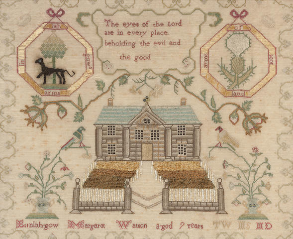 An early 19th century sampler by Margaret Watson, Linlithgow
