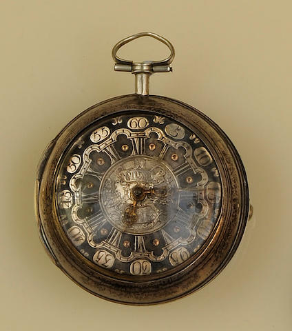 A mid 18th century silver pair cased verge pocket watchby Samson, London