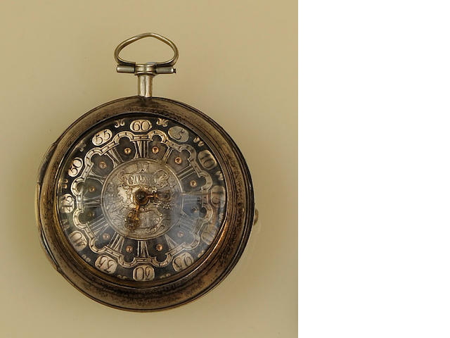 A mid 18th century silver pair cased verge pocket watchby Samson