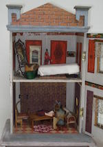 Small Moritz Gottschalk dolls house, for the French market, circa 1910