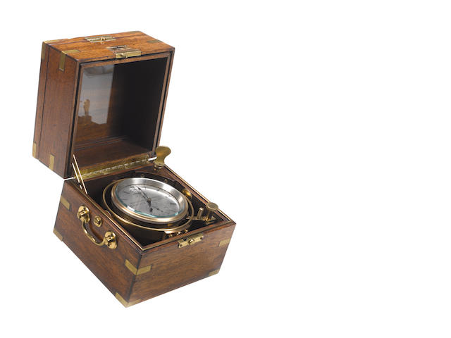A 20th century two day marine chronometer Mercer 16084, for Kelvin & Wilfrid O.White Co, Boston and New York