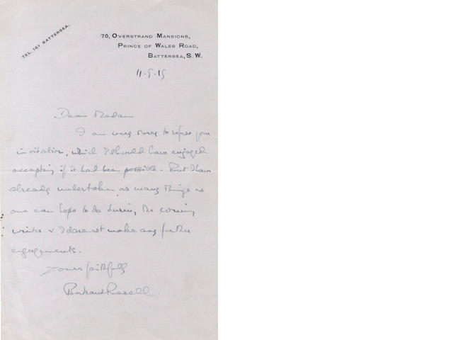 LITERATURE and EDUCATION - LONDON SCHOOL OF ECONOMICS. Collection of autograph and typed letters signed, c.1916-1930