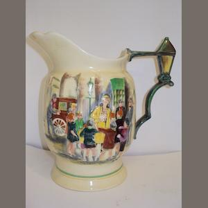 "A Crown Devon Fieldings Gracie Fields ""Sally"" musical jug"