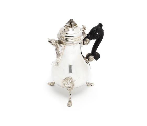 A late 18th century Maltese silver bachelor's coffee pot, by Pietro Migliano,