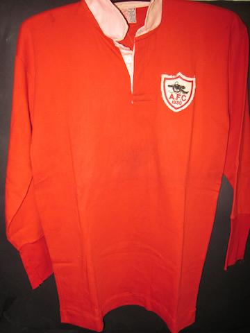 1930 Arsenal F.A. Cup final shirt : Charlie Jones