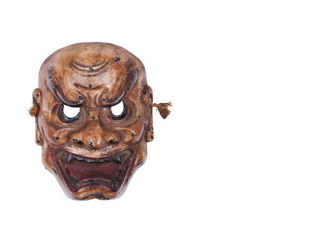 A Noh mask of Shishiguchi (lion-mouth) 19th century
