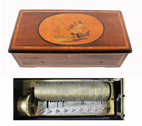 A twelve-air two-per-turn musical box, by Nicole Frerés, circa 1868,