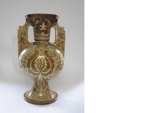 A large Persian lustre decorated vase 19th century