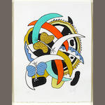 Fernand Léger (1881-1955) Les Papillons  Lithograph printed in colours, 1948, on Arches, signed and numbered 35/75 in pencil, published by Galerie Louise Leiris, Paris, with full margins, 650 x 496mm (25 1/2 x 19 1/2in)(SH)