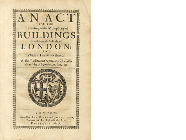 ACTS AND PAMPHLETS An Act for the Better Suppressing of Theft Upon the Borders of England and Scotland, 1657; and 14 others in one box