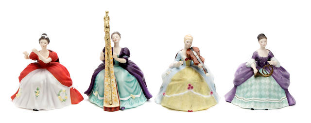 Figurines A collection of twelve limited edition Royal Doulton 'Lady Musicians' figures
