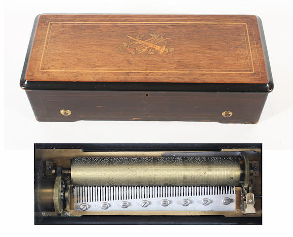 A musical box playing ten Scottish airs, by Paillard Vaucher et fils, circa 1884,