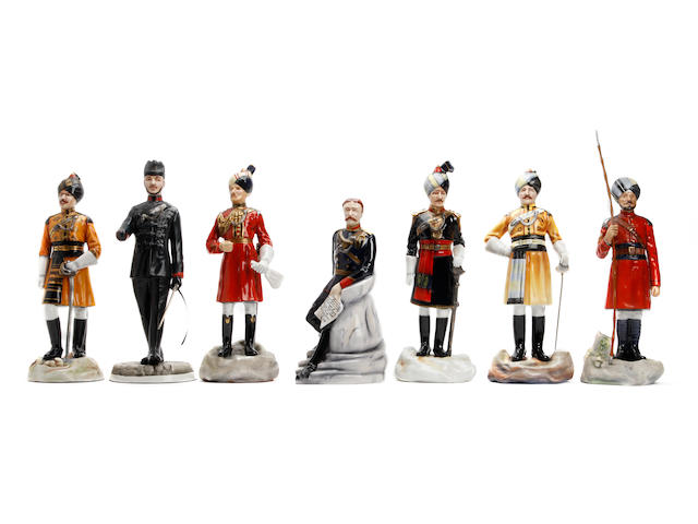A collection of limited edition Michael Sutty 'The glory that was India' Series figures