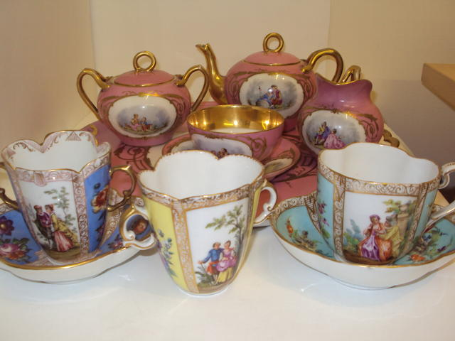 A small collection of 19th century Continental ceramics
