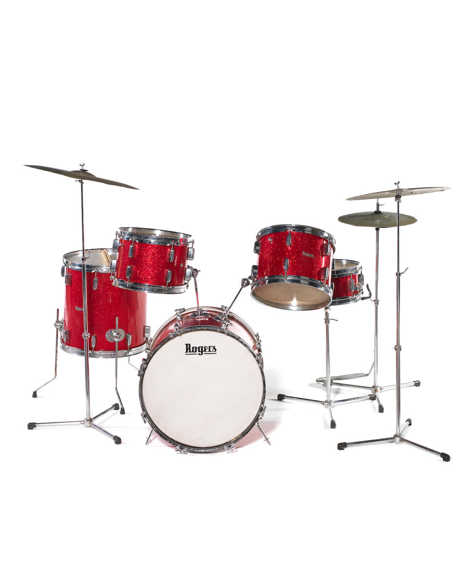 The Dave Clark Five: Dave Clark's Rogers drum kit, 1960s,