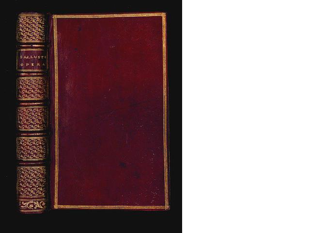FOULIS PRESS SALLUSTIUS CRISPUS (CAIUS) Opera... Ex recensione Gottlieb Cortii, 1751