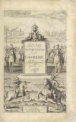 CRUSO (JOHN)] Militarie Instructions for the Cavallrie: or Rules and Directions for the Service of Horse, 14 (of 16) plates, 1632