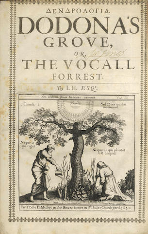 HOWELL (JAMES)] Dendrologia [in Greek]. Dodona's Grove, or the Vocall Forrest, 1640