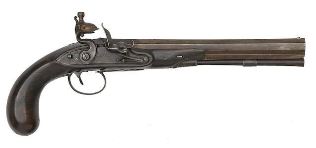 A 25-Bore Flintlock Duelling Pistol