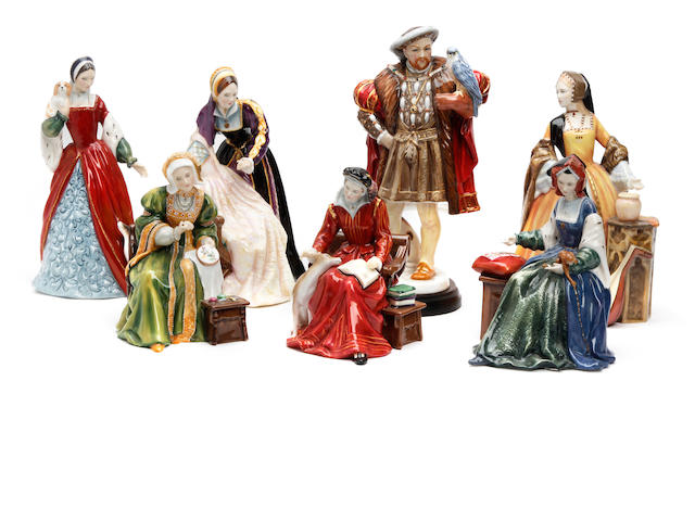 Figurines A complete collection of Royal Doulton limited edition Henry VIII and wives figures