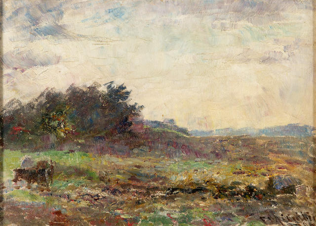 Frederick McCubbin (1855-1917) Evening with Horses, Mt Macedon, Victoria 1906