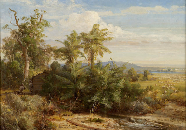 Abraham Louis Buvelot (1814-1888) View from Yarra Glen 1877