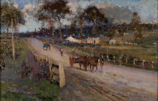 Walter  Withers (1854-1914) Coming Home, Eltham Road 1899