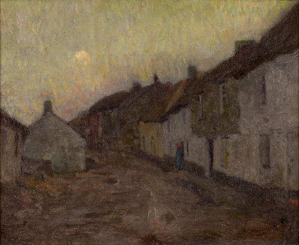 David Davies (1864-1939) Fishing Village