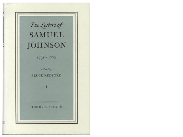 JOHNSON (SAMUEL) The Letters, 5 vol., 1994; and others (16)