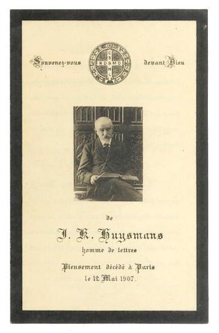 HUYSMANS MEMORIAL
