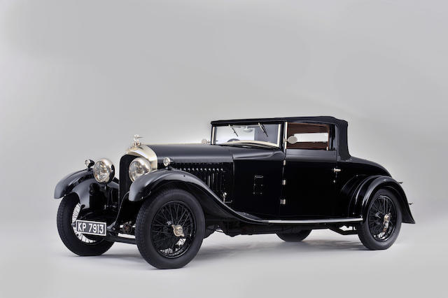 The Bentley Drivers Club main annual concours-winning,1929 Bentley 4½-Litre Drophead Coupé with Dickey  Chassis no. HB3405 Engine no. MR3394