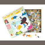 A 'Yellow Submarine' jigsaw puzzle - Blue Meanies Attack, 1968,
