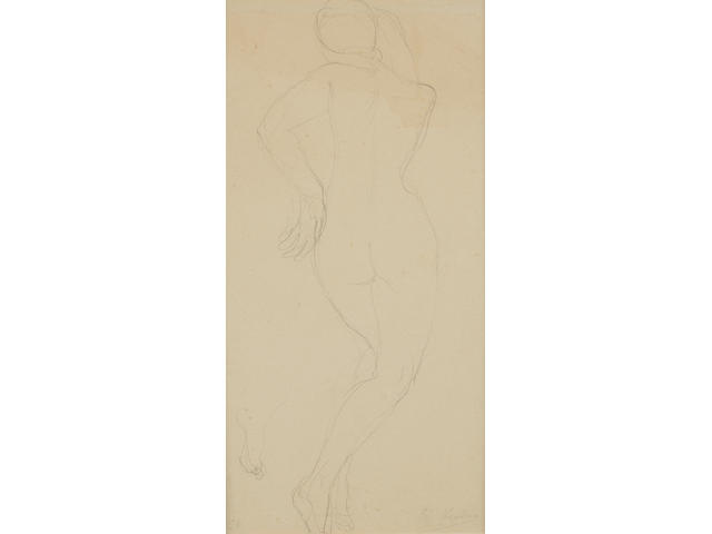 Auguste Rodin (French, 1840-1917) Femme nue de dos en torsion