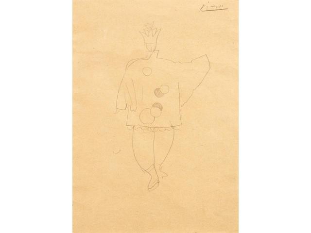 Pablo Picasso (Spanish, 1881-1973) Etude de costume pour 'le Magicien Chinois' dans le ballet PARADE, étude pour le dos du costume