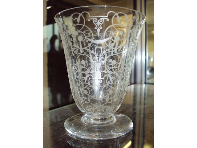 A 54 piece set of mid-20th century engraved Baccarat glass.
