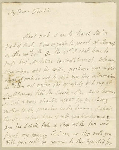 MISCELLANY – LITERATURE. Album of autograph letters etc., by Sir Walter Scott, Robert Southey etc.