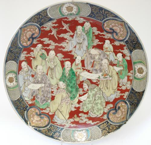 An Imari charger with figures Circa 1900