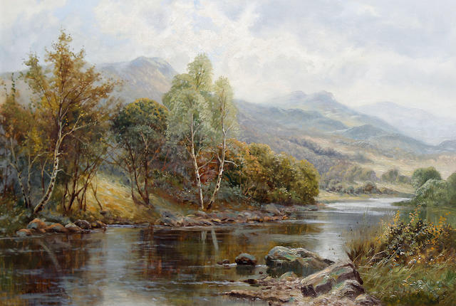 Charles Leader (British, late 19th/early 20th Century) River landscape