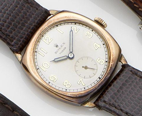 Tudor. A 9ct gold manual wind wristwatchChester Hallmark for 1950